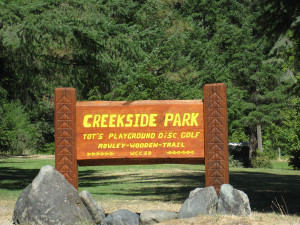 Creekside Park Sign