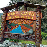 camp kimtu recreation area sign