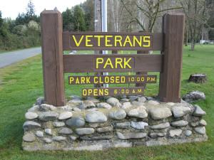 Veterans Park Sign
