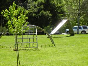 Playground Slide and Climbing Equipment